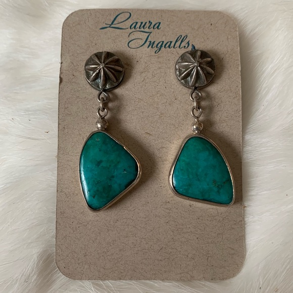 laura ingalls Jewelry - NWT • sterling silver Chrysocolla earrings
